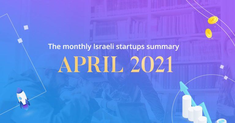 Israeli startups april